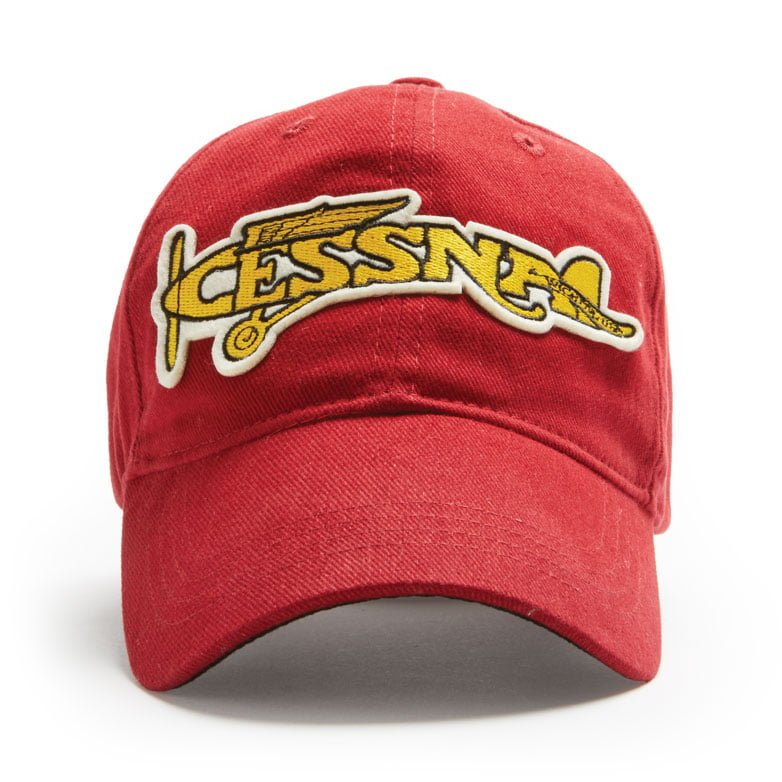 Cessna Plane Cap Heritage Red front