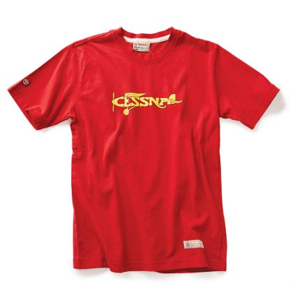 Red Canoe Cessna Plane T-shirt, Heritage Red