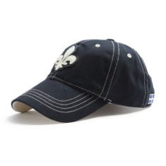 Red Canoe Quebec Shield Hat, Navy - side
