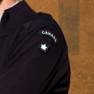 canadian-patch cardigan