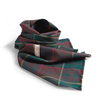 Red Canoe Ontario Tartan Wool Scarf