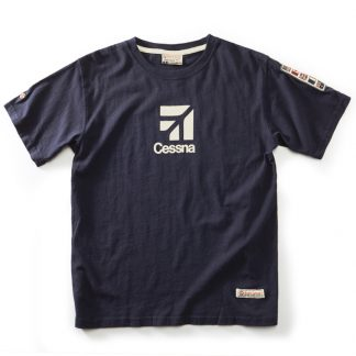 red Canoe Cessna T-shirt Navy