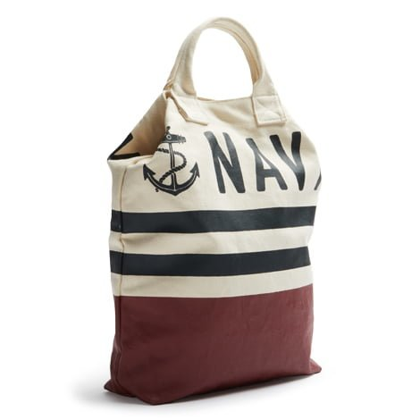 Navy Tote Side