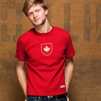Canada-Shield-T-Shirt Red Model