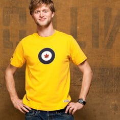 RCAF T-shirt Yellow Model