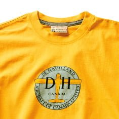 dehavilland-tshirt-burnt yellow