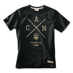 Canada T-shirt Black Sleeve