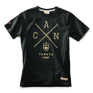 Canada T-shirt Black Sleeve