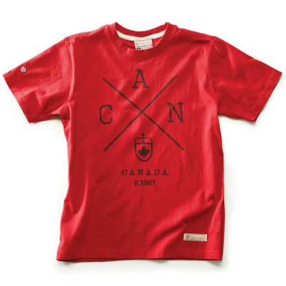 Cross Canada T-shirt, Heritage Red
