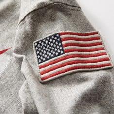 NASA cotton t-shirt us flag