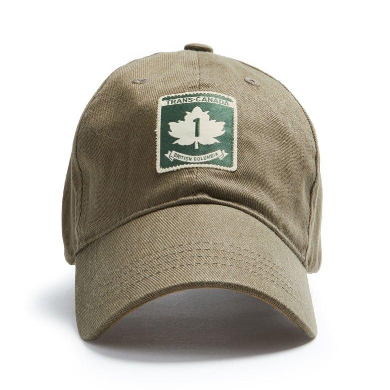 Trans Canada BC cap, Khaki Front view
