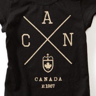 Women's Cross Canada T-shirt, Black