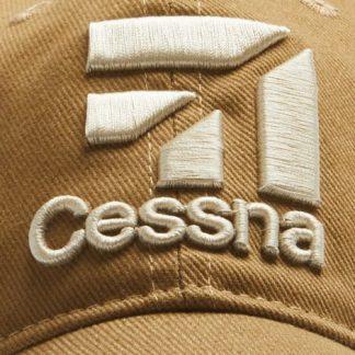 Cessna 3D Logo Cap, Tan