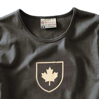 Women's Canada Shield t-shirt, Slate - detail