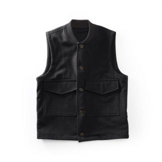 Men's Wool flight vest Black