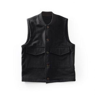 Men's Wool flight vest Black