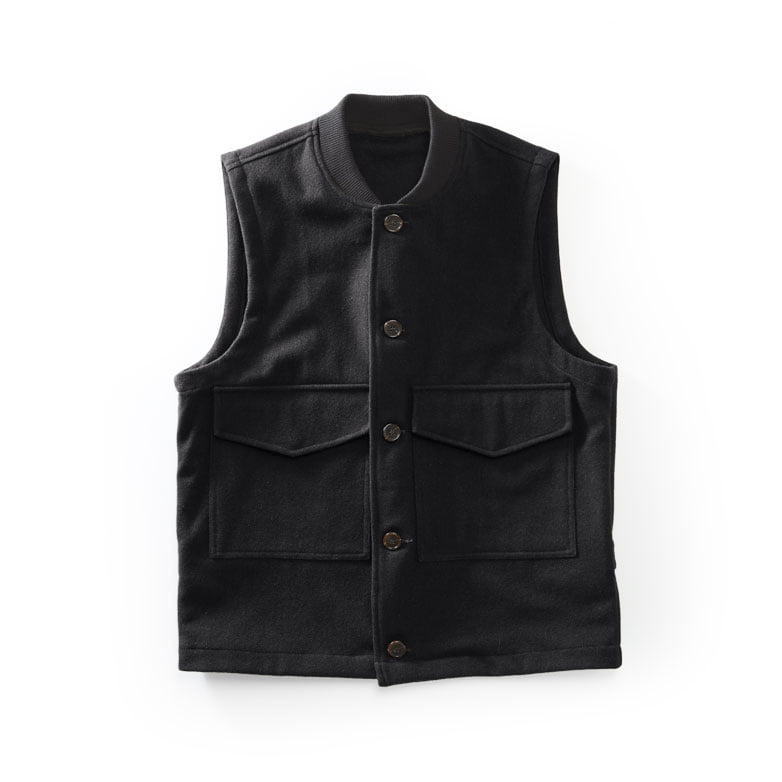 Wool-flight-vest-black