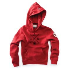 Kids Cross Canada Hoody, Heritage Red