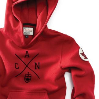 Kids Cross Canada Hoody, Heritage Red - detail
