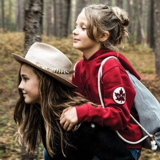 Kids Cross Canada Hoody, Heritage Red - lifestyle