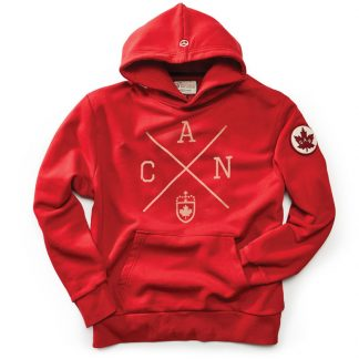 Men's Cros Canada Hoody, Heritage Red