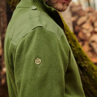 Canada Field Patch Cardigan Olive